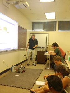 Jeff Cagle Teaches intermediate programing with Robot C at Maryland Kickoff